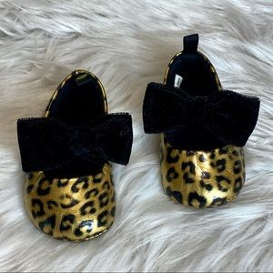 First Steps Leopard Print Shoes Size 3-6 Months